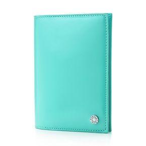 Étui pour passeport en cuir Tiffany Blue.