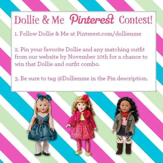 Dollie & Me Pinterest Contest on @Janell Saving You Dinero - Enter to WIN from @Dollie Me: Pinterest Parties, 11 10 Dollie, Easy Contest, Pinterest Contest, Dollie S
