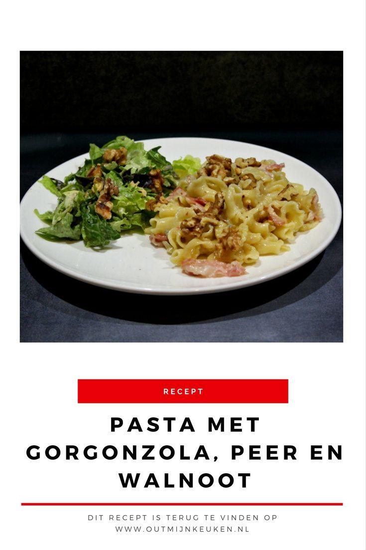 Recept   Pasta met gorgonzola, peer en walnoten