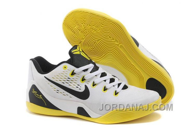 http://www.jordanaj.com/nike-kobe-9-low-em-white-black-yellow-for-sale-lastest.html NIKE KOBE 9 LOW EM WHITE BLACK YELLOW FOR SALE DISCOUNT Only $94.00 , Free Shipping!