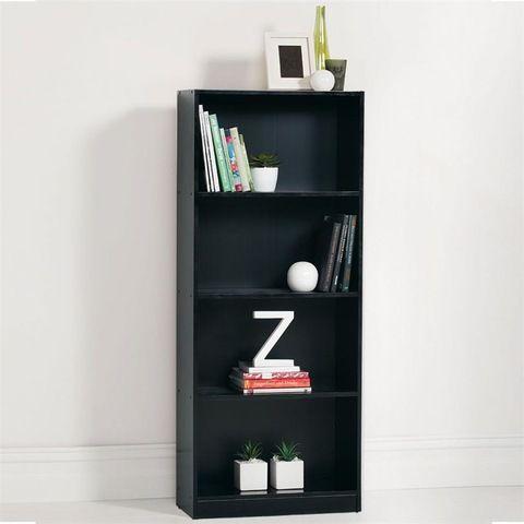 4 Tier Black Bookshelf