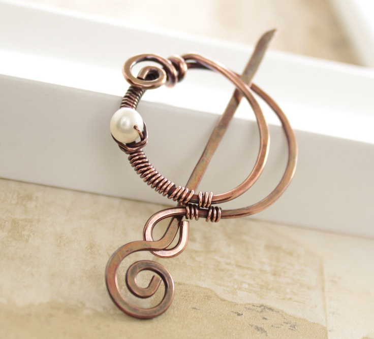 142 best WIRE HAIR AND SHAWL PINS images on Pinterest   Shawl pin ...