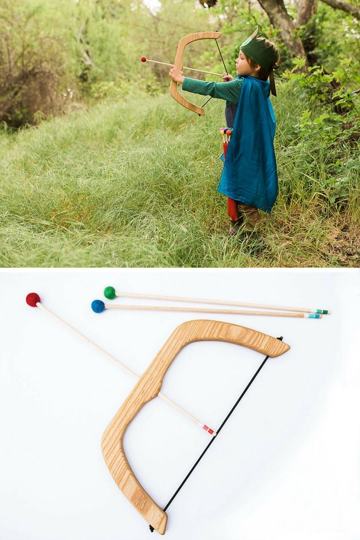 My nephew would love this. It would be good exercise for him too. Large Wooden Bow and Arrow #ad #toy #toys #etsy #etsyfinds #etsygifts #handmade