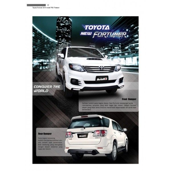 Bodykit Toyota New Fortuner 2014-2015