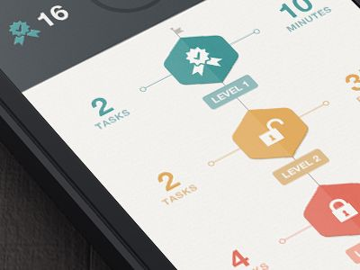Levels #UI #mobile #gamification