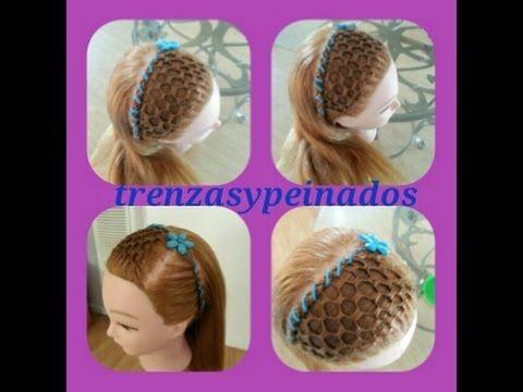 Peinados para niñas. Curso #13 (Tejido la maya o panal de abejas) - YouTube
