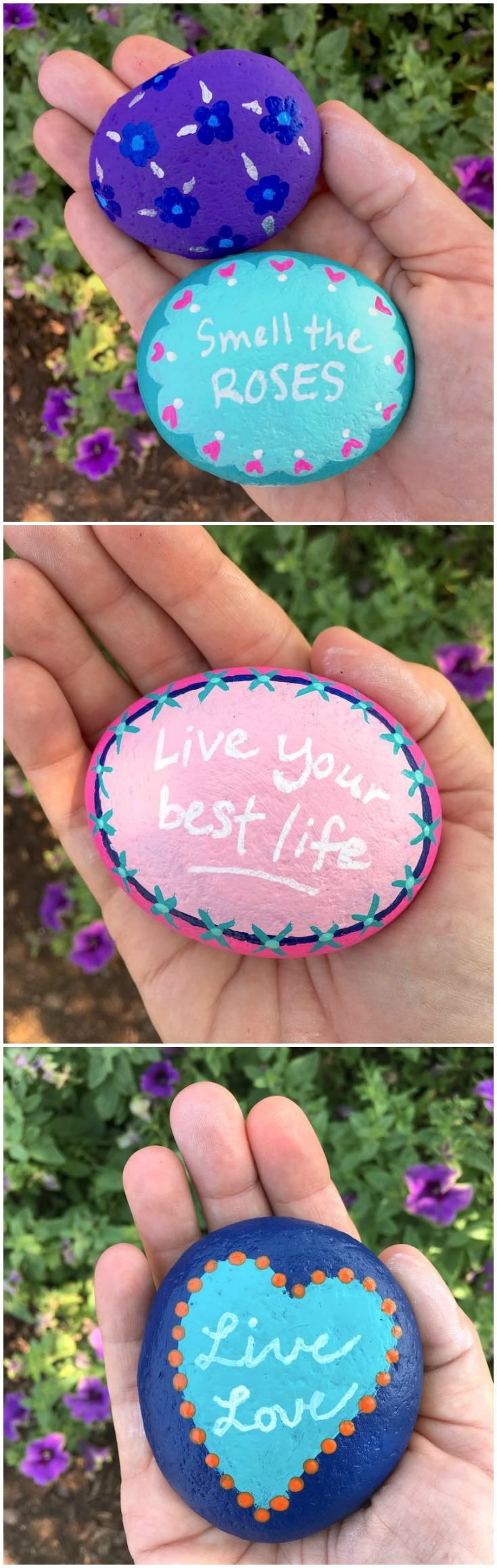 Do you need DIY rock painting ideas for spreading rocks around your neighborhood or the Kindness Rocks Project? Here's some inspiration with my best tips! Rock painting is easy and fun, even for kids. Make these for gifts or for the garden!