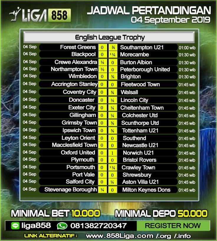 Jadwal Pertandingan Sepak Bola 04 September 2019 Promo