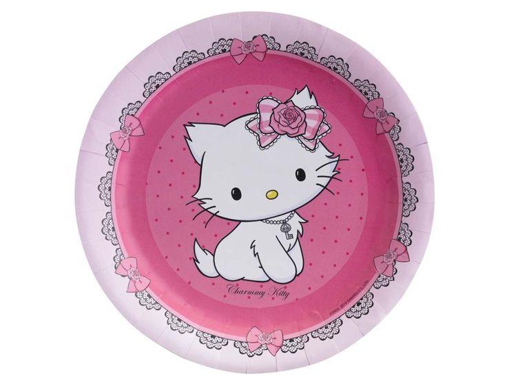 Hello Kitty 8ks talíř 18 cm   BALONKY .CZ
