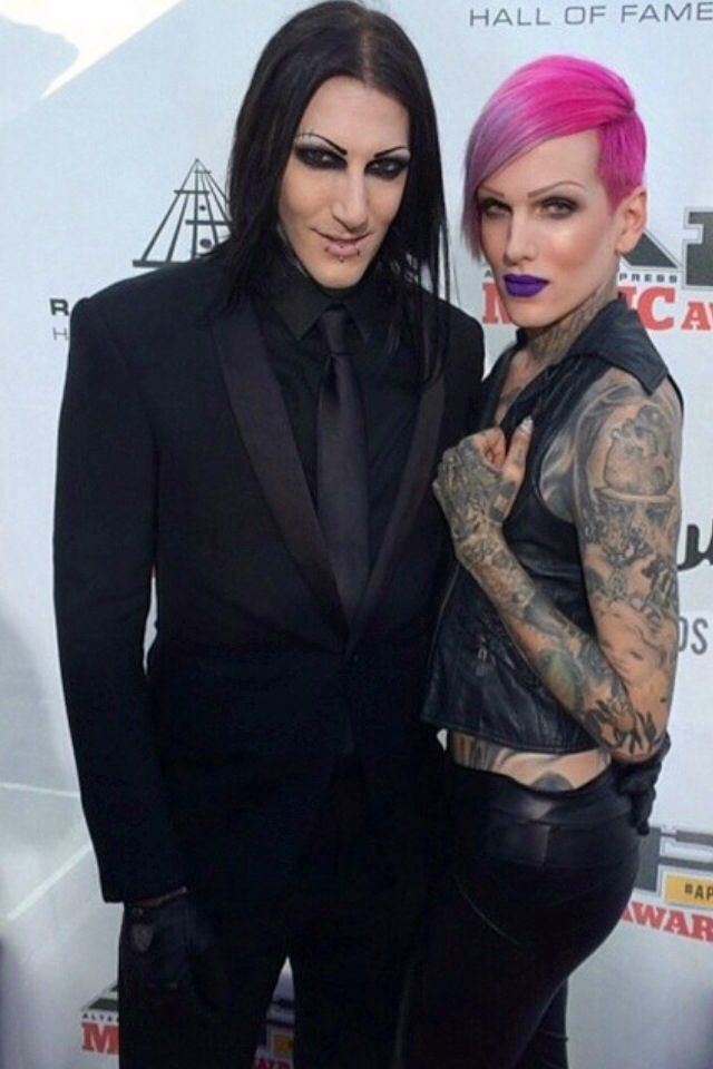 Chris motionless and Jeffree Star. is it me or does it look like Chris is touching his ass