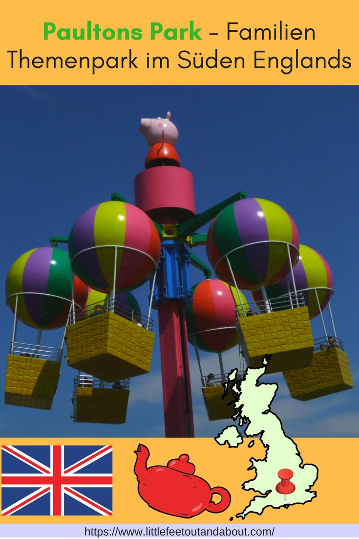 Besuch in Paultons Park und Peppa Pig World, nahe Southampton in Südengland. Unterhaltung für die ganze Familie.