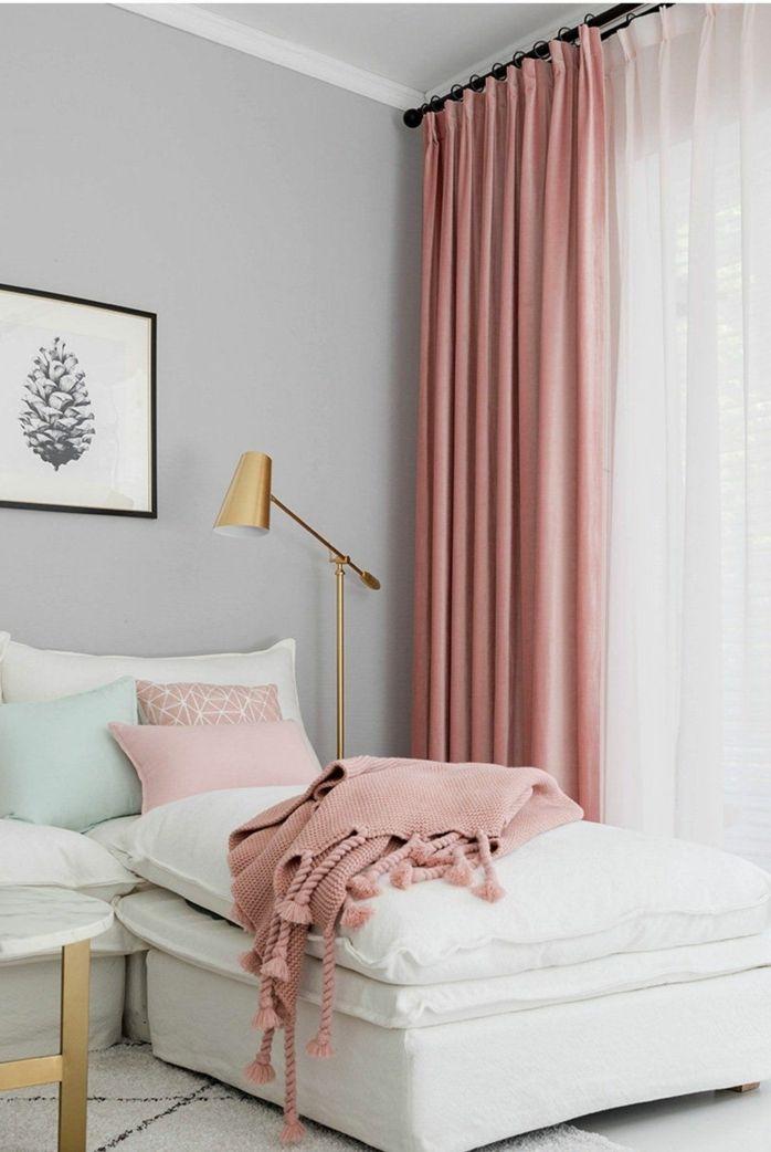 1001 Ideen Fur Bilder Fur Wandfarbe Altrosa Die Modern Und Stylisch Sind In 2020 Rosa Vorhange Zimmer Einrichten Jugendzimmer Wohnzimmer Grau