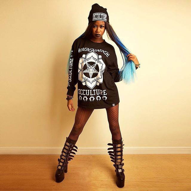 """Baphomet Occulture"" Longsleeve Tall Tee & ""Occulture"" Beanie Available at www.crmcclothing.co 