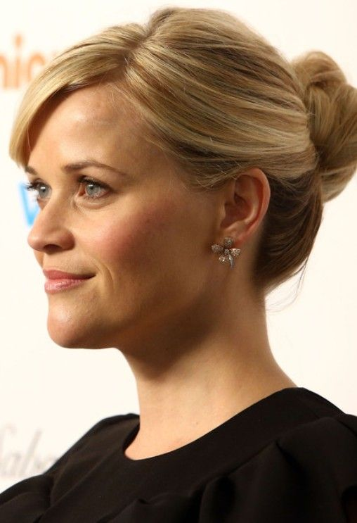 Reese Witherspoon Updo Hairstyle Twisted Bun In 2019