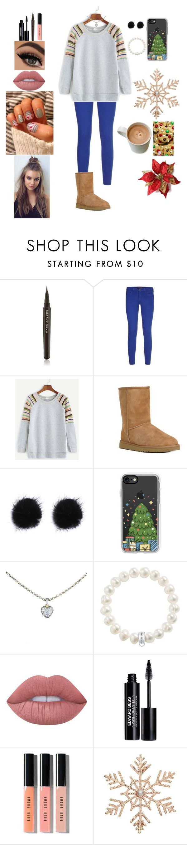 """Untitled #566"" by qwert123456 ❤ liked on Polyvore featuring Marc Jacobs, Comptoir Des Cotonniers, UGG Australia, Casetify, Cartier, Thomas Sabo, Lime Crime, Edward Bess, Bobbi Brown Cosmetics and John Lewis"
