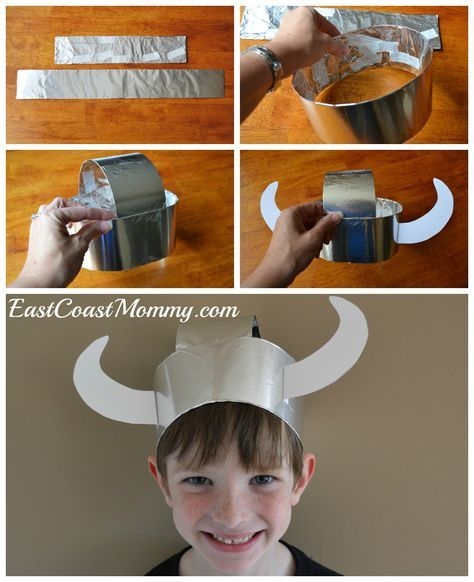 East Coast Mommy: Simple Paper Viking Helmet