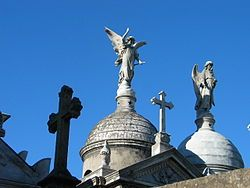 Tomb rooftops at La Recoleta Cemetery, Buenos Aires