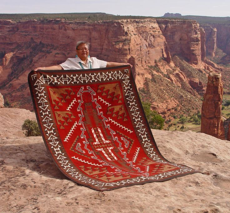 Churro 1347 Ganado Navajo Rug Woven By Cara Gorman X