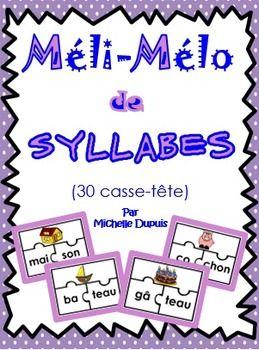 Cette activité sur les syllabes permet aux élèves de développer une conscience phonologique des mots tout en ayant du plaisir. À l'aide d'images, les élèves apprendront à faire le lien entre les phonèmes et les graphèmes.