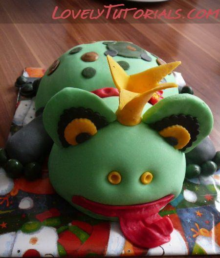 Frog cake step by step