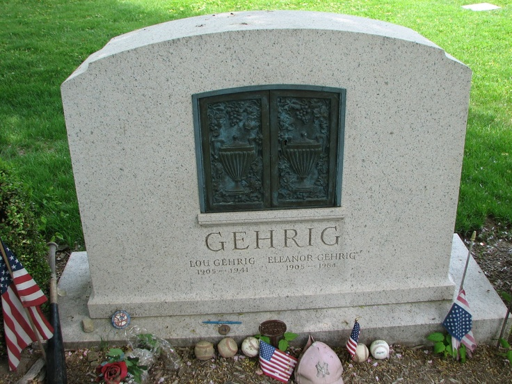 Lou Gehrig...famous tombstones - Google Search