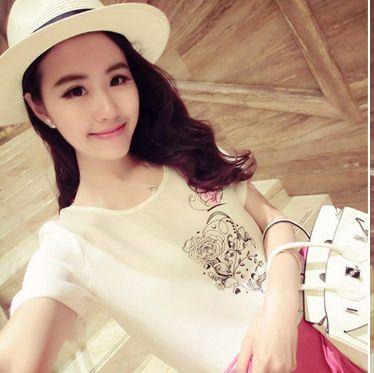 Women t shirt fashion 2017 Print Flowers summer t-shirt woman luxury Short Sleeve tshirt top For Female Clothing #Affiliate