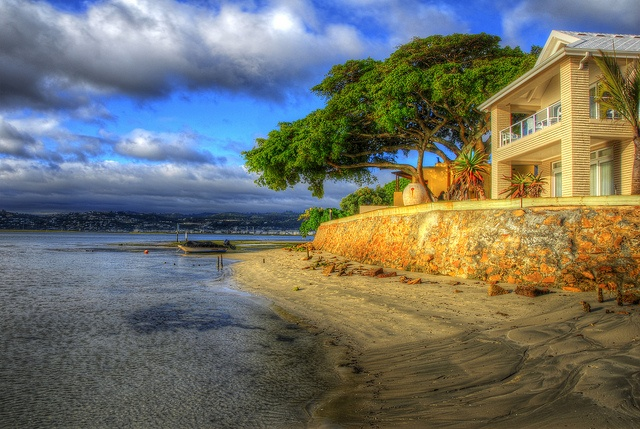 Leisure Isle in the late afternoon sun, Knysna, South Africa