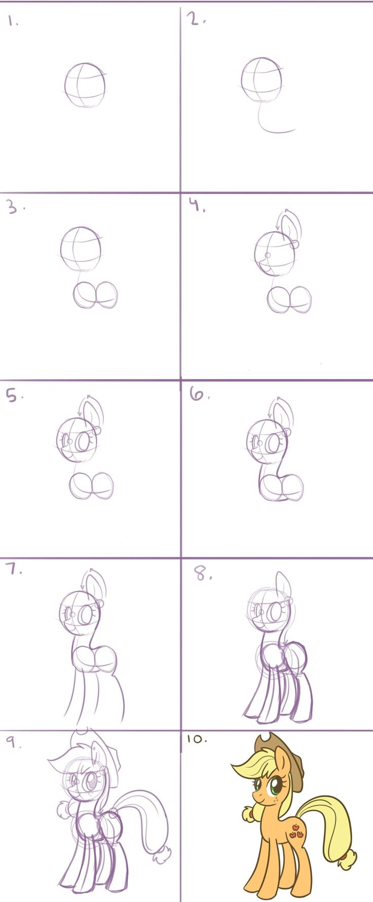 How to Draw a Pony in 10 Steps by steffy-beff.deviantart.com on @deviantART