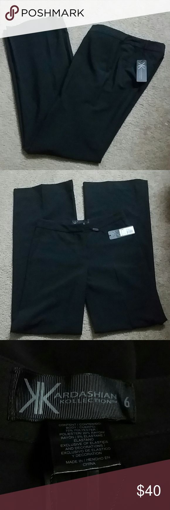 NWT Kardashian kollection bell pant NWT Kardashian kollection bell pant. These are beautiful career pants to dress up for work. Offers accepted. Kardashian Kollection Pants Boot Cut & Flare