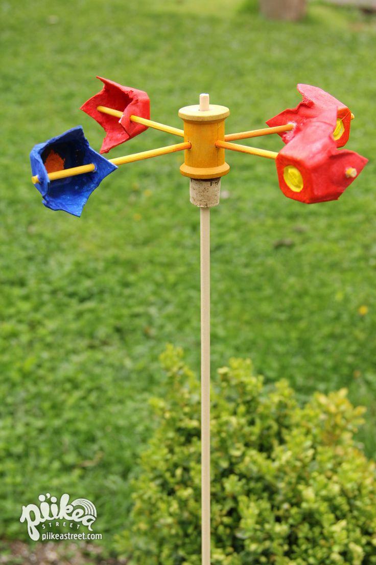 Windmolen met eierrekjes