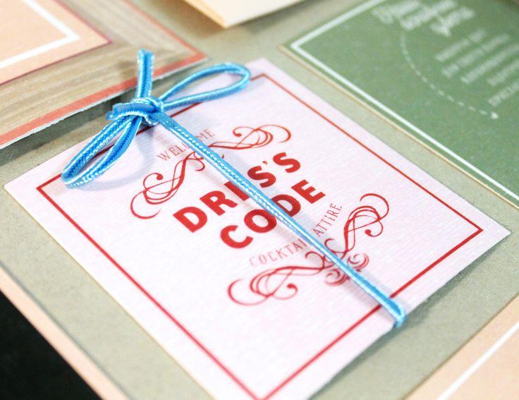 Wes Anderson invitation design. The Grand Budapest Hotel wedding inspiration.