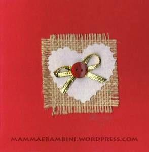 Biglietto col cuore dal blog Mamma e Bambini