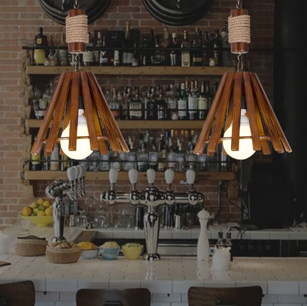 132.01$  Watch here - http://alihu7.shopchina.info/go.php?t=32667437915 - Chinese Antique Pendant Lamp European American Vintage Restaurant Study Wood and Rope Pendant Light Free Shipping 132.01$ #buymethat