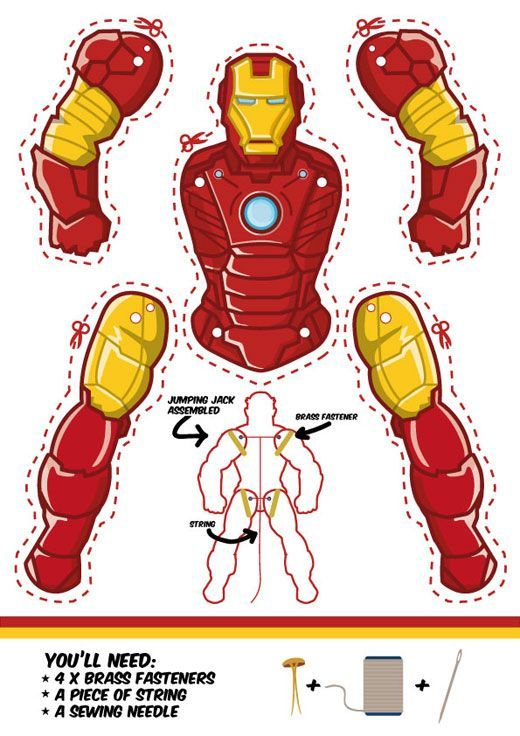 Iron Man Jumping jack template.