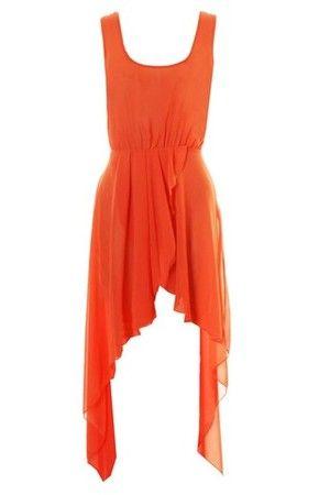 Chiffon asymmetrical maxi dress by love