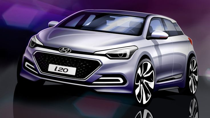 2015 Hyundai i20 sketches reveal all-new city car's styling - http://www.caradvice.com.au/299899/2015-hyundai-i20-sketches-reveal-all-new-city-cars-styling/