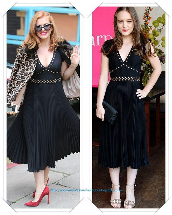 Un vestido de Kate Spade lo llevo primero Isla Fisher en Londres; y después se lo vimos a Izabela Vidovic en la fiesta de Harper's Bazaar.