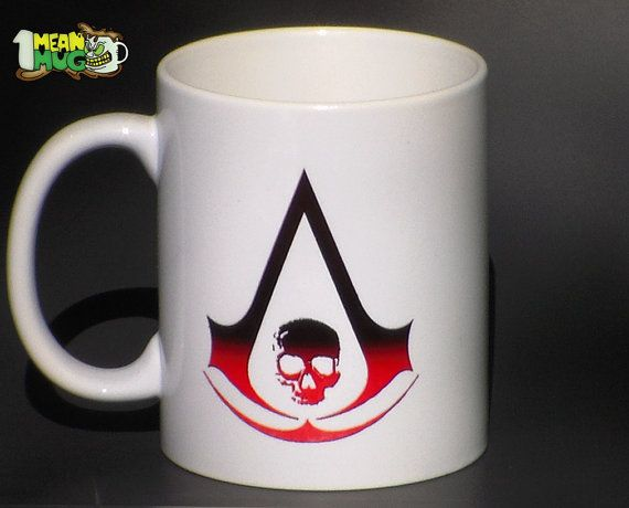 Awesome Assassinu0027s Creed 4 Logo Coffee Mug  AC 4 Pirate Inspired 11 Oz Coffee Mug  With