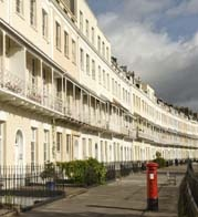 Bristol's Royal York Crescent in Clifton, near central Bristol and not far from Harbourside area.