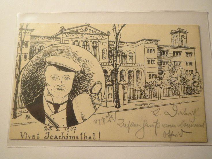 Joachimsthal Charlottenburg 1907 Gymnasium Berlin Studentika | eBay