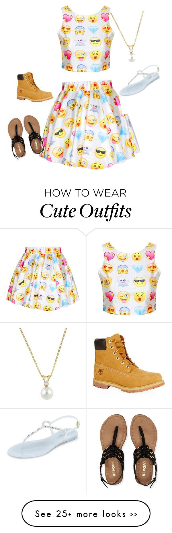 """emoji outfit"" by missprettygirl561 on Polyvore"