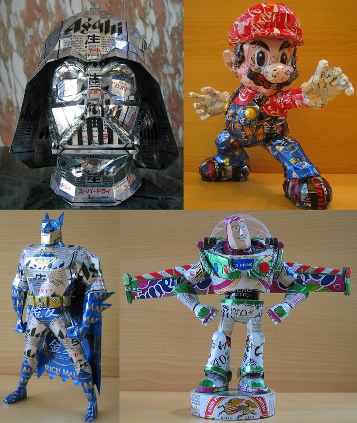 Japanese Tin Can Art Pop Can Art Pinterest Recycled