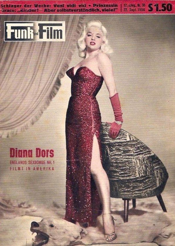 "Diana Dors on the cover of Funk und Film""magazine, September 22, 1956, Austria."