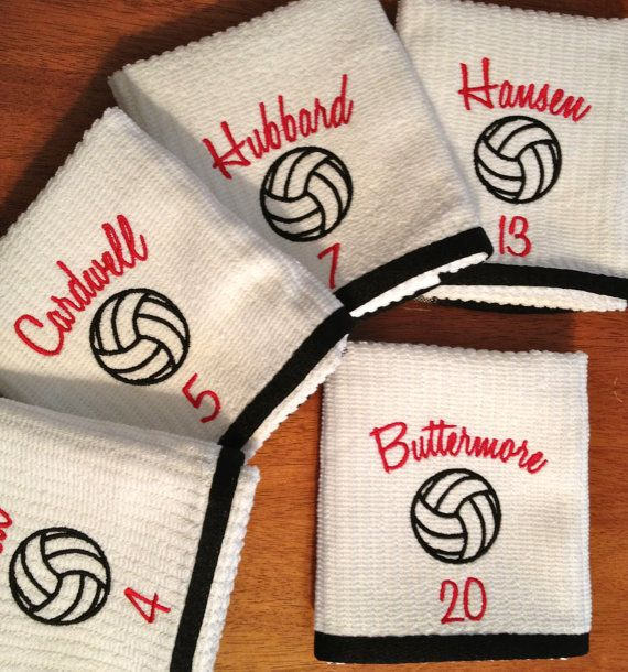 Personalized embroidered sports towel sweat hand