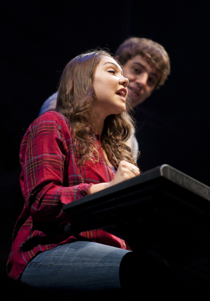 """Andrea Ross and AJ Holmes as Natalie and Henry in """"Next To Normal"""" at Arizona Theatre Company"""