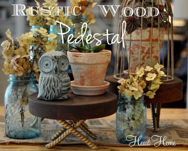 The Husband and I brainstormed this DIY Rustic Wood Pedestal idea over coffee last weekend! I was looking for rustic elements to use in an upcoming party and th…