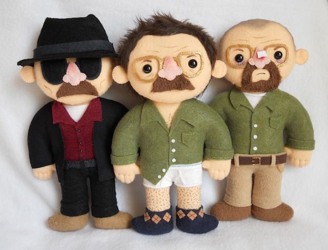 Photos: A Look at the 'Breaking Bad' Art Show at Gallery1988: Break Bad, Felt Dolls, Bad Crafts, Breakingbad Mr White, Art Show, Geek Crafts, Art Projects, Bad Plushies, Walter White