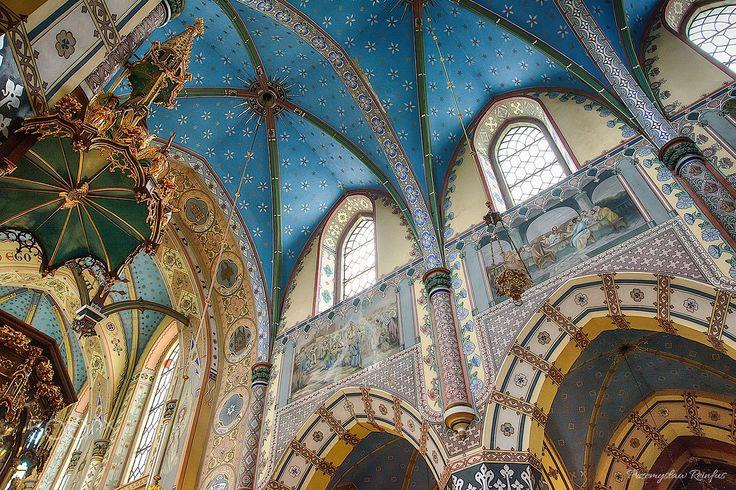 Church in Boleslaw (Poland) inside. - null