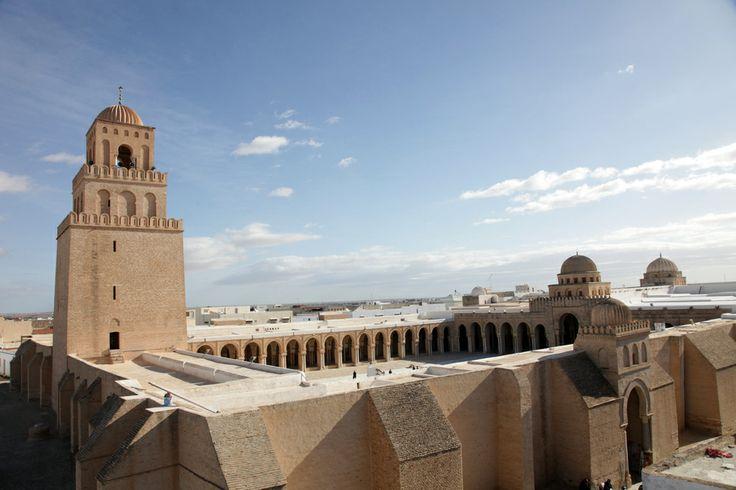 Το μεγάλο τζαμί του Kairouan στην Τυνησία