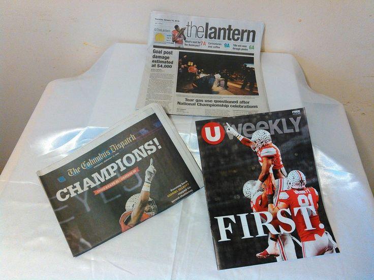 OSU National Champions 2014 Columbus Dispatch Plus The Lantern & UWeekly #OhioStateBuckeyes